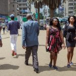 Does population in Kenya lives below its poverty line?